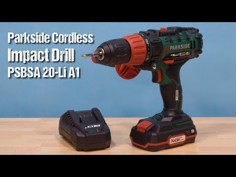 Parkside Cordless Impact Drill PSBSA 20-Li A1 ~ unboxing & review ~ Česky ᴴᴰ