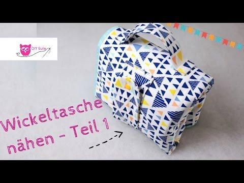 Kombinierte Wickeltasche / Windeltasche mit Unterlage selber nähen Teil 1 – DIY Eule