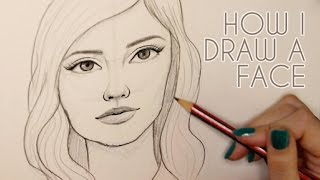 HOW I DRAW A FACE (front on) // Emma Maree