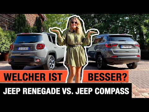 Jeep Renegade vs. Jeep Compass: Welcher ist besser?!🤔🦅 Review | Test | Plug-in Hybrid | Trailhawk
