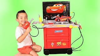 Disney Cars 3 Service Station Toys Unboxing And Playing Fun With Ckn Toys