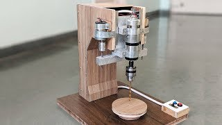 How to Make a Automatic Drill Press Machine at Home - New Concept