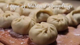 3 Easy ways to make & cook MoMos / Dumplings