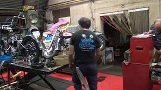 #107 1950 & 1959 panhead bike mock-up harley parts hunting at tatro machine shop tour