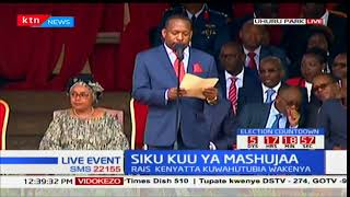 Nairobi Governor Mike Sonko makes speech at Mashujaa day celebrations