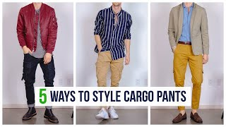 5 Ways To Style Cargo Pants (Dapper, Casual, & Street) | Outfit Inspiration | Men's Fashion