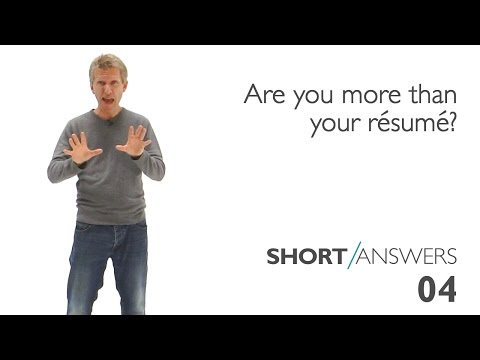 Are you more than your resume? | Andy Bannister