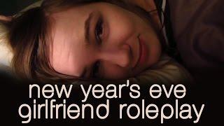 [ASMR] New Year's Eve Girlfriend Roleplay (whispering, rain)
