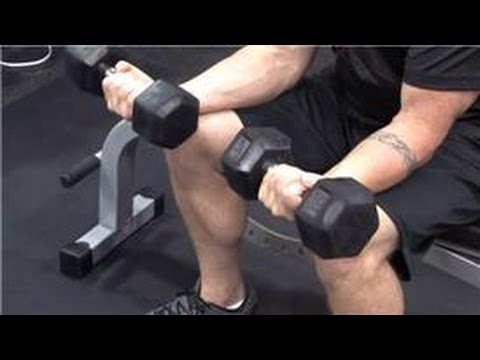 Single Arm Seated Dumbbell Wrist Curl