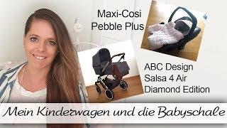 Der Kinderwagen von ABC Design und die Babyschale von Maxicosi