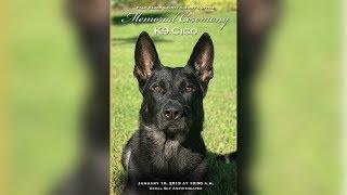 Memorial service for PBSO K-9 Cigo