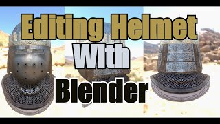 Editing or combining  helmet with blender
