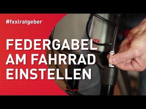 Federgabel am Fahrrad einstellen