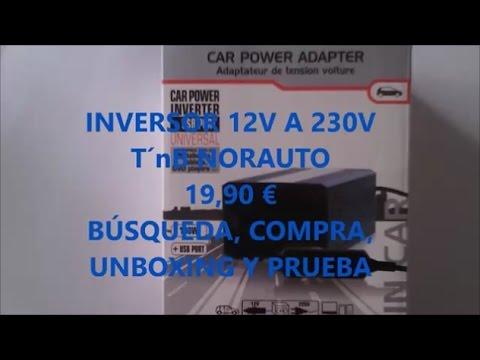 220 Voltios en el coche: INVERSOR  conectado al mechero. UNBOXING Y PRUEBA