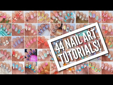 , title : '44 Nail Art Tutorials! | Nail Art Design Compilation'