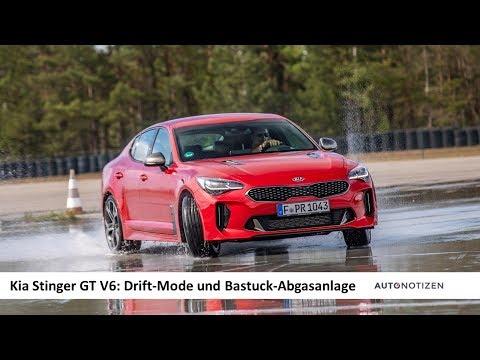 Kia Stinger 3.3 V6 GT 2019 Drift-Mode und Bastuck-Sportabgasanlage Review / Test / Fahrbericht