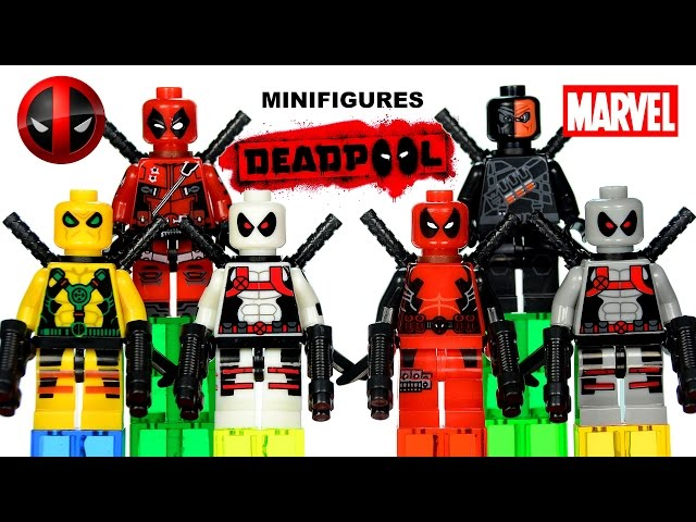 Deadpool Minifigures X Force Marvel Super