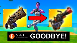 fortnite REMOVED the BEST SHOTGUN for THIS...