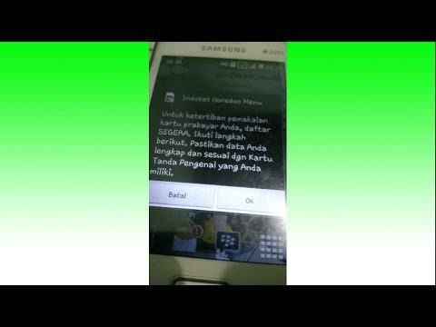Video Cara Registrasi id outlet Kartu Perdana Baru - Indosat Ooredo Menu