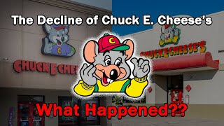 """Chuck E. Cheese's has filed for bankruptcy, a headline I never wanted to see. This video investigates the deeper reasoning behind it while taking a look at their eventful history.  To submit ideas and vote on future topics:  https://companymanideas.com  Patreon: https://www.patreon.com/companyman Twitter: https://twitter.com/MikeCompany17  A very special thanks to this wonderful group of Patrons:  Amy Westacott, Angus Clydesdale, Brandon L, Brett Walton, Chris Lion-Transler, Christian & Penny Gray, Dominique Dugas, Dustin Van Horn, Dylan Kinnard, Emerald Computers – Jason Dragon, Fortunate Calf, Jesse Long, Jimmy1985, Jon, Julianne Beach, Logan Brown, Marshall Kurtz, Meow Wolf, Michelle Chisholm, Mike Weaver, milkshake, My NameIsKir, Nicholas Murphy, Peter Wesselius, Rob, Robert T Kirton, Sam Bennett, Sirpoptart, Sondre Grimsmo Sinnes, Stewart Tritapoe, Super Duper Paratrooper, Taylor LaBrier, Tristan Williams, Victor Anne, Vincent Frame.  Company Declines:  Kmart: https://youtu.be/1__Qg1toSSs Blockbuster: https://youtu.be/5sMXR7rK40U RadioShack: https://youtu.be/JFivtOmXPPM Solo Cups: https://youtu.be/YjzGKc4mynU Toys """"R"""" Us: https://youtu.be/4JYUo9WKkao hhgregg: https://youtu.be/g6j4aoHbWdw Pan Am: https://youtu.be/YInewzLzc78 ESPN: https://youtu.be/bt-4PbhpGYE Gibson: https://youtu.be/apQ9SO7uF60 iHeartMedia: https://youtu.be/BImjay9KfYc Bon-Ton: https://youtu.be/buWiH5_ru2Y Kodak: https://youtu.be/eVrmFgvEnAA General Electric: https://youtu.be/CqF3WUST-fk Woolworth: https://youtu.be/iSEw4wmjuh4 Dell: https://youtu.be/rgDjQLyFXTA Sears: https://youtu.be/Qws713t3HBY Payless: https://youtu.be/GJ35lCrOYC0 Hostess: https://youtu.be/-c26ewfay9Q Redbox: https://youtu.be/sc-lrcYI1uo Nokia: https://youtu.be/QUk6V_fBSPw JCPenney: https://youtu.be/0d6op86y51U Quiznos: https://youtu.be/P3QK-32bxgw GameStop: https://youtu.be/YXEfgFCkv4k NASCAR: https://youtu.be/nSKk6J20SsA Shopko: https://youtu.be/9rHbSGjSsE0 MoviePass: https://youtu.be/QvCkp3rfgOU Reebok: https://youtu.be/R"""