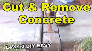 4 Ways to Cut & Remove Concrete for French Drain, - Level 2 - EASY DIY