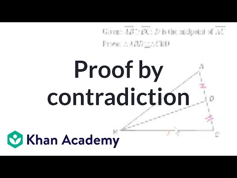 CA Geometry: Proof by contradiction (video) | Khan Academy