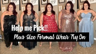 Plus Size Formal Wear Try On | Help Me Pick! | CoEdition
