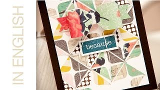 Card A Month: A Bow Card Using Leftover Pieces Of Pattern Paper