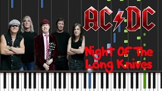 AC/DC - Night Of The Long Knives Synthesia Tutorial