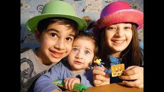 Челлендж дети не поделили сладости и игрушки Щенячего Патруля яйцах Rubble