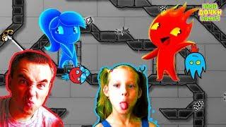 ПРИКЛЮЧЕНИЯ ОГОНЬ и ВОДА в Хрустальном храме # 2. Развлекательное видео для детей. Игровой мультик