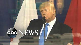 President Trump speaks at Veterans Day Parade l ABC News