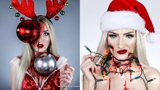 Crazy Christmas MAKEUP TUTORIALS | Scary Halloween SFX Compilation