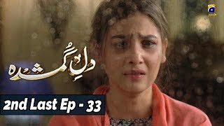 Dil-e-Gumshuda - 2nd Last EP 33 - 13th Nov 2019 - HAR PAL GEO  The story revolves around two cousin Zara & Alizay. Alizay is an insecure, devious & manipulative, she is so possessive about the people around her that she cannot even think about sharing them with anyone, while on the other hand Zara is an orphan and adopted by her Uncle so that he can take better care of his niece after the sad demise of his brother. However, she is not warmly welcomed by her cousin sister & aunt. They are always finding ways to demean her & tarnish her image in front of the family. Life is unfair with Zara & Alizay makes it worse with her insecurities, jealousy & possessive nature. Will Zara and Alizay be able to settle their issues? Will Alizay ever accept Zara's presence as a cousin sister in her life?    Written by: Saira Arif Directed by: Shaqielle Khan Produced by: Abdullah Kadwani & Asad Qureshi Production house: 7TH Sky Entertainment  Cast details: Hina Altaf Agha Ali Mirza Zain Amaar Khan Shamim Hilali Khalid Anum Zainub Qayyum Humaira Bano    For More Videos Subscribe – https://www.youtube.com/harpalgeo  #DileGumshuda2ndLastEP33 #HARPALGEO #Entertainment