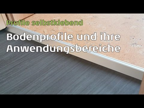 Bodenprofile für Vinylboden, Parkettboden, Laminat und Kork, und ihre Anwendungsbereiche