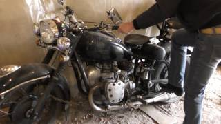 Запуск мотоцикла  К-750 после нескольких лет простоя