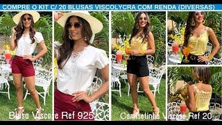 bb9668839011 Compre 100 Blusas Viscolycra com Renda pelo WhstsApp 85 98773 4877 e monte  sua loja