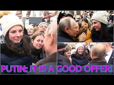 Putin krijgt huwelijksaanzoek van jonge vrouw
