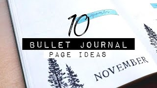 10 BULLET JOURNAL PAGE IDEAS with Let's Journal Store Products! | BULLET JOURNAL IDEAS