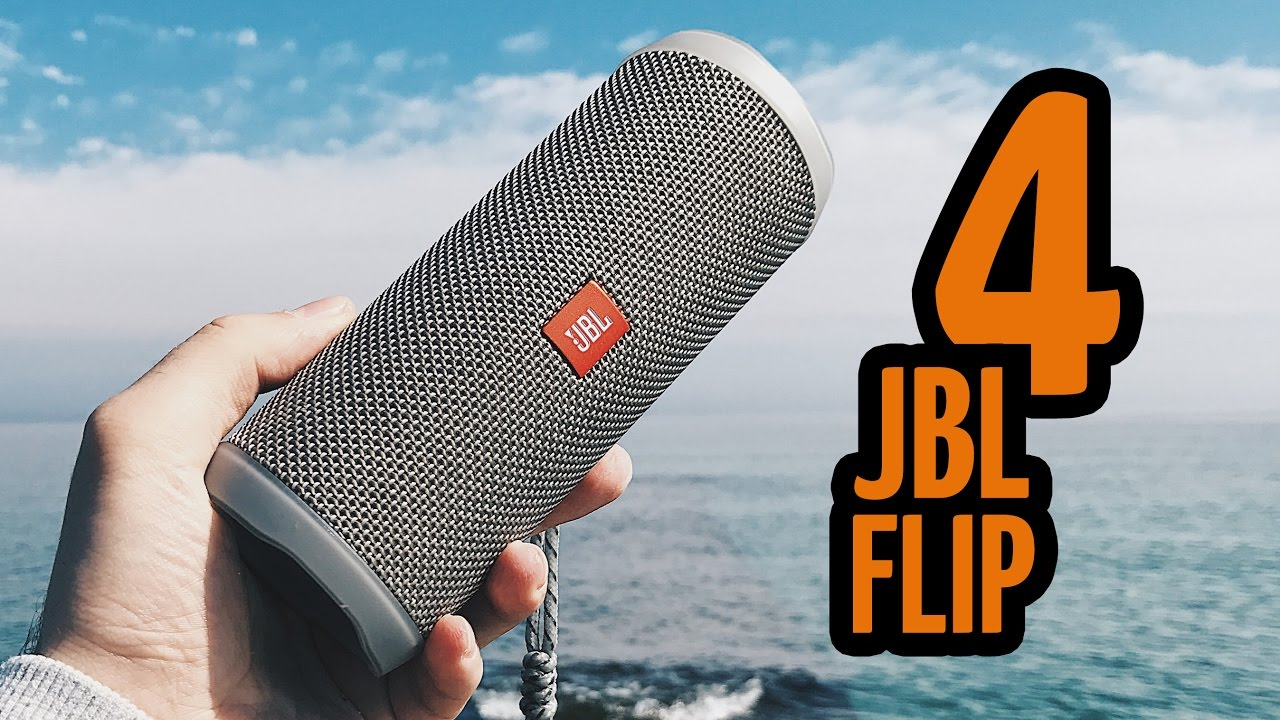 Влагозащищенная акустика JBL Flip 4 (White) video preview