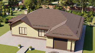 Проект дома 184-C, Площадь дома: 184 м2, Размер дома:  18,2x16,6 м