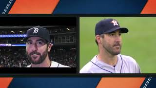 Justin Verlander gets Emotional after watching Tigers Tribute Video