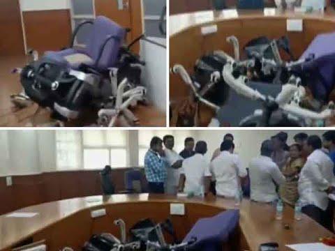 Bal Thackeray memorial row: Shiv Sena workers vandalise Mayor's office