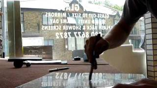 cutting a hole on 4mm glass