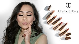 Charlotte Tilbury Lipstick Collection Swatches   Nudes