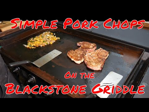 Blackstone 36″ Griddle Pork Chops and Veggies