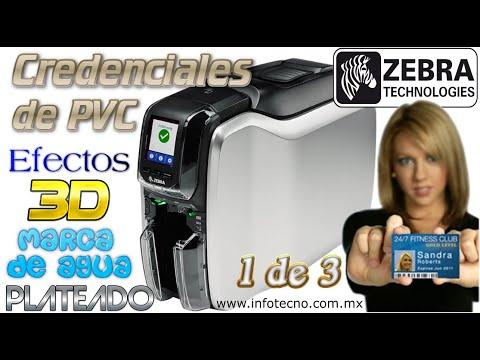 Zebra ZC300 Impresora Credenciales de PVC Tarjetas ZC32-000 Parte 1 de 3