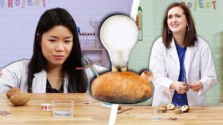 Adults Try Kids' Potato Light Science Experiment thumbnail