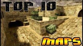Top 10 Most Popular Maps in Counter Strike 1.6  (2013 of All Time)