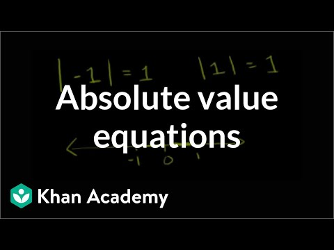 Intro to absolute value equations and graphs (video) | Khan ...